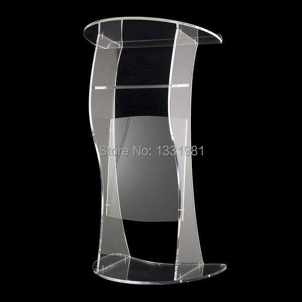 Free Shipping Cheap Church Acrylic Podium/Clear Modern Stable Acrylic Lectern Acrylic Podium Plexiglass