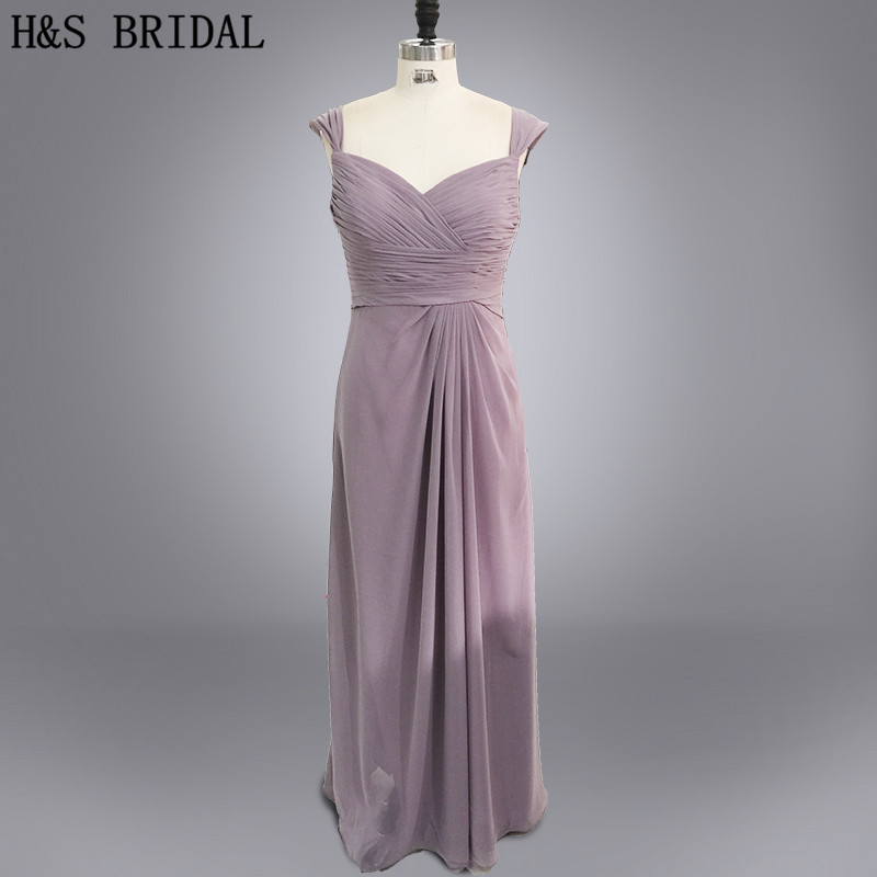 Real photo Sweetheart long chiffon amazing   bridesmaid     dresses