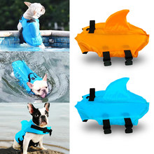Pet Dog Swimwear Life Vest Summer Safety Clothes Pet Shark Life Jacket Pets Swimsuit Saver Vest for Small Medium Large Dog(China)