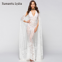 Summer 2018 Floral Vintage White Lace Dress 2 Piece Set Women Sleeveless Mermaid Party Maxi Dress