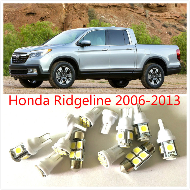 Free ship 12PCS White LED interior package kit For Ridgeline 2006-2013 Map Dome Bed rail Door Exterior License Plate Tag Lights