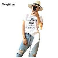 New Arrival Summer 2018 Women S Short Sleeve Letter Printed Cotton T Shirt 171125MM01