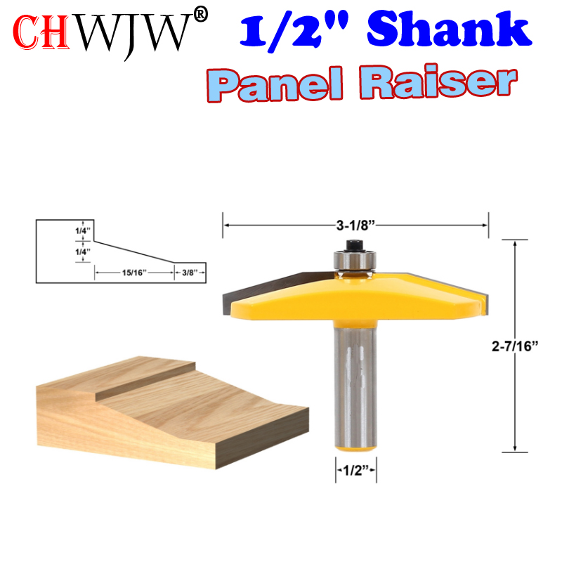 """1PC 1/2"""" Shank Panel Raiser Router Bit  Line Knife Woodworking Cutter Tenon Cutter For Woodworking Tools"""
