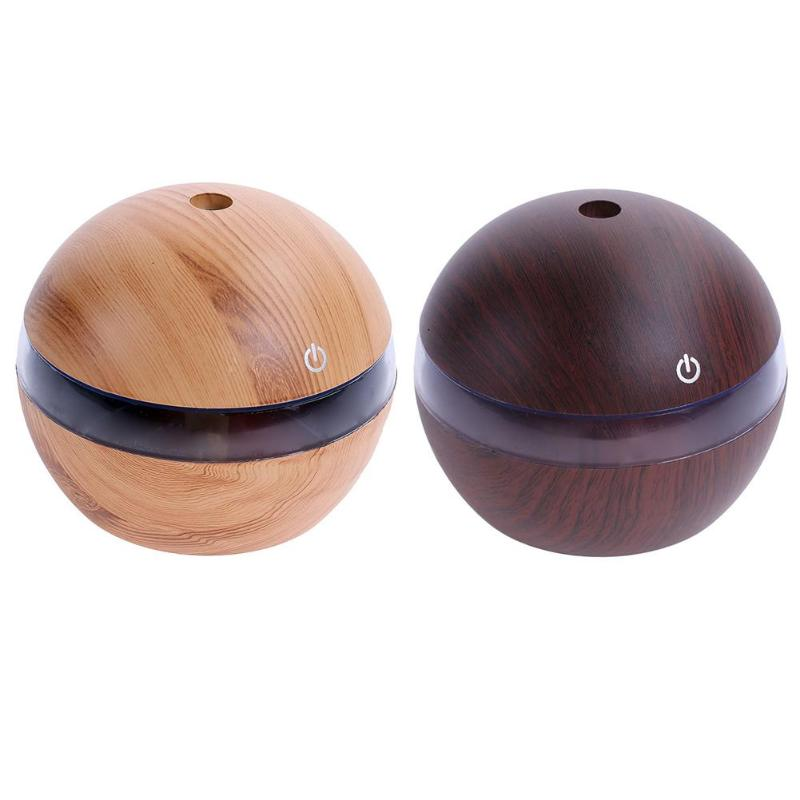 200ml Wood USB Air Ultrasonic Humidifier Diffuser Essential Oil Diffuser Aromatherapy mist maker Air Purifier 7Color LED Light