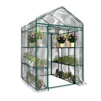 1pc PVC Garden Walk in Greenhouse Plant Cover High quality PVC Gardening Greenhouse Inner Accessories (without Iron Stand)