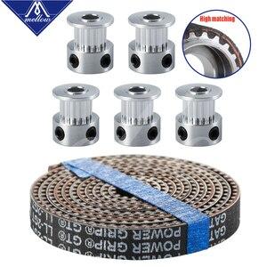 Аксессуары для 3D-принтера 5 шт. 16/20 зубьев GT2 зубчатый шкив синхронный диаметр колеса 5 мм и 5 м GATES-LL-2GT GT2-6mm ГРМ GT2