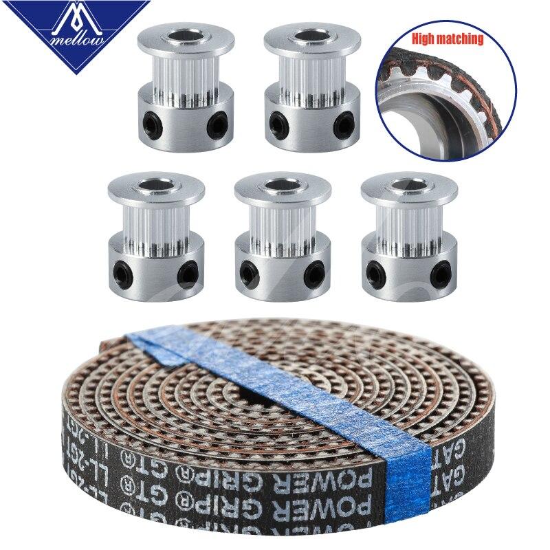 acessorios da impressora 3d 5 pcs 16 20 dentes gt2 sincronismo polia sincrono roda furo 5mm