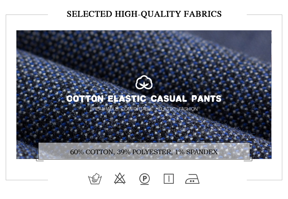 HTB1f4K QXzqK1RjSZFvq6AB7VXa2 2019 Autumn Winter New Men's Slim Casual Pants Fashion Business Stretch Thicken Trousers Male Brand Plaid Pant Black Blue