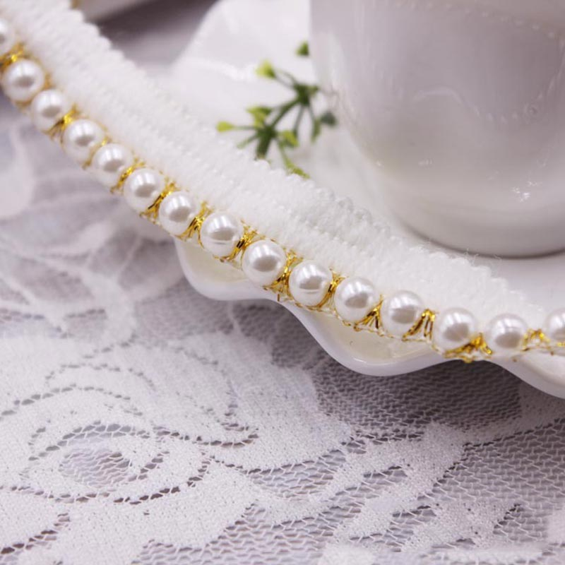 10yards DIY accessories Pearl lace Ribbon tassel cotton tassels trimming fringes for sewing bed sheet clothes curtain decoration in Tassel Fringe from Home Garden