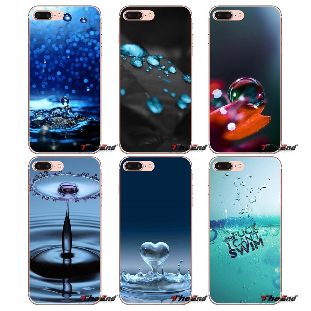 3d water drop transparent tpu shell covers for samsung. Black Bedroom Furniture Sets. Home Design Ideas
