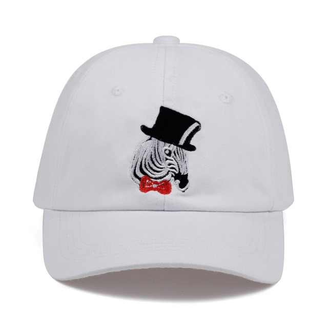 81051ab57b6 100% Cotton zebra embroidery hat black cap Blank snapback hip hop dad cap  designer hats men women Visor hat gorra bone