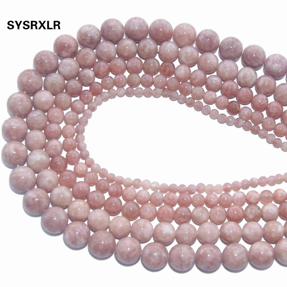 New Diy 4//6//8//10//12 mm Natural White Crazy Stone Round Beads fit Yoga bracelet