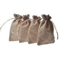 Flax Jute Linen Gift Bag 10x14cm(4
