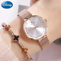 Stainless Steel High Qualit 100% Original Disney Mickey Mouse Watch Women Simple Luxury Famous Brand Gril Watches Women Watch