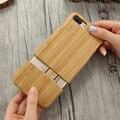 Floveme madera case para iphone 7 plus casos cubierta del teléfono fundas retro de madera de bambú tallado case para iphone7 teléfono de nuevo Shell