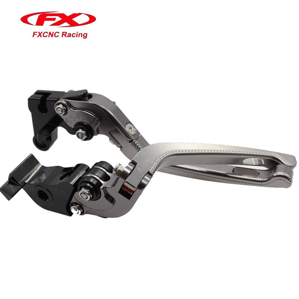 FX CNC 3D Folding Adjustable Brake Clutch Levers 7 Colors For SUZUKI SV650/SV650S 1999-2009 DL650/V-STROM 2004-2010 600/750 cnc 3d folding adjustable brake clutch levers for suzuki dl650 v strom 2004 2010