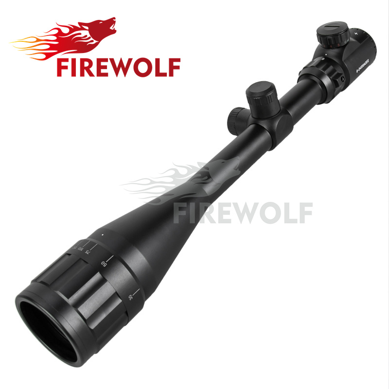 free shipping 6-24x50 AOE Riflescope R&G illuminated Riflescope Reticle Shotgun Rifle sniper Scope for hunting magpul g lt p moe sniper rifle limited edition