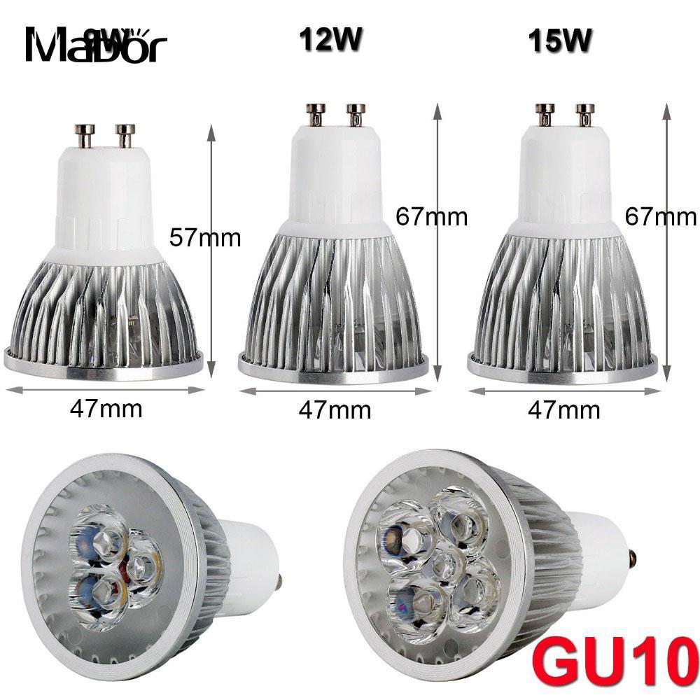 Led-strahler Licht & Beleuchtung Gu10 12 Watt Dimmbare Strahler Birne Ultra Helle Weiß/warmweiß Aluminium 85-265 V 100% Original