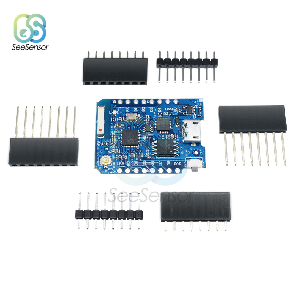 16M Bytes External Antenna Connector NodeMCU WiFi Development Board ESP8266 ESP 8266EX CP2104 Micro USB for WEMOS D1 Mini Pro in Instrument Parts Accessories from Tools