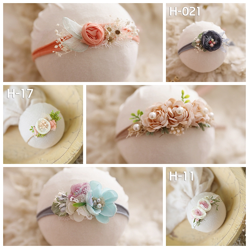 Flower  Headbands Newborn Baby Princess Cute Creative Headwear Headband Photo Props Hair Accessory Headbands