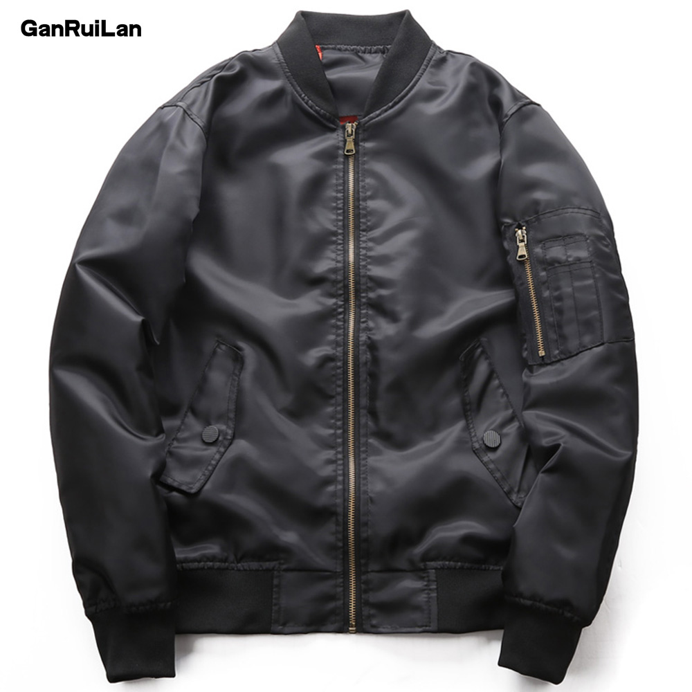2018 New Casual Bomber Jackets Men's Coats Autumn 6XL Casual Solid Male Jackets Army Military Men Outerwear Thin JK18013
