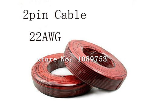 5 meters 2pin extension red black wire cable cord copper