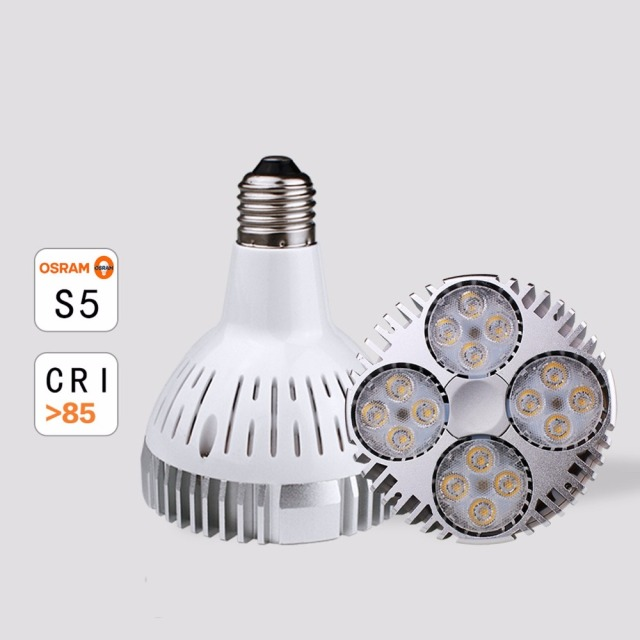 10pcs/lot E27 dimmable led par30 lamp 35W Cree leds Par30 led light replace 70W Metal halide lamp AC85-265V