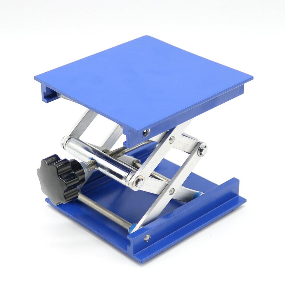 """4 """"hliníkové laboratorní vybavení Laboratorní zvedací plošina Stojanová stojanová nůžková laboratoř Jack 100x100x150mm"""