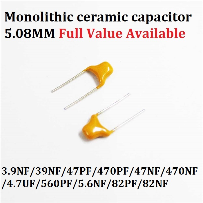 5 x 1uF 50V Multilayer Monolithic Ceramic Capacitor