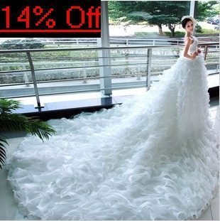 Promotion price,princess wedding dress,off shoulder,floor length,crystal and beaded decoration,multi-layers yarn.