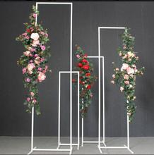 New iron art long box screen set of four sets background decoration creative beauty Chen placed pieces geometric line wedd