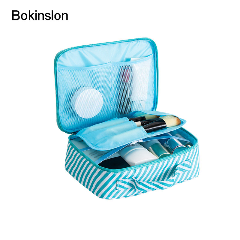 Bokinslon Fashion Lady Cosmetic Cases Bag Nylon Multifunctional Cosmetic Storage Bags Women Solid Color Female Toiletry Pouch solid color fashion cosmetic bag ladies portable travel necessary markup pouch storage beauty tools accessories supply products