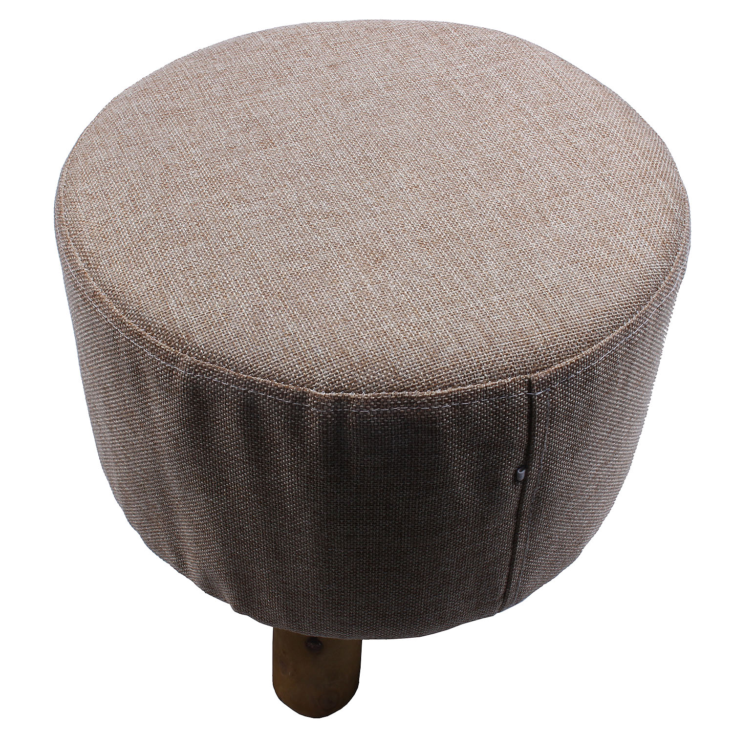 Modern Luxury Upholstered Footstool Round Pouffe Stool + Wooden Leg Pattern:Round Fabric:Grey (3 Legs) Modern Luxury Upholstered Footstool Round Pouffe Stool + Wooden Leg Pattern:Round Fabric:Grey (3 Legs)