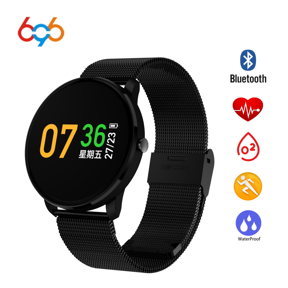 696 CF007 Smart Watch Waterproof IP67 Heart Rate Monitor Blood Pressure Measure Smart Band Wristband for Android iOS купить в Москве 2019