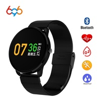 696 CF007 Smart Watch Waterproof IP67 Heart Rate Monitor Blood Pressure Measure Smart Band Wristband for Android iOS
