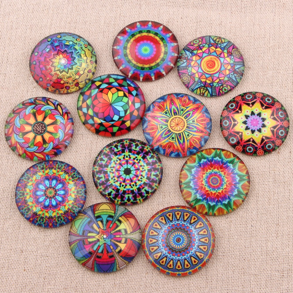 onwear round dome rainbow pattern photo glass cabochon 12mm 20mm 25mm diy flatback embellishment for crafts jewelry making
