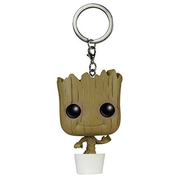 Guardians of The Galaxy Mini Figures Keychains: Groot, Rocket Raccoon and Star Lord 1