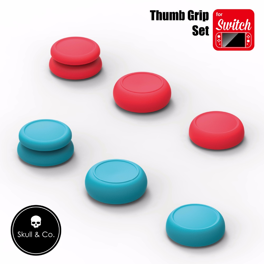 Skull & Co. FPS CQC Thumb Grip Set Joystick Cap Thumbstick Cover For Nintend Nintendo Switch Joy-Con Controller