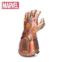 2018 Avengers 3 Infinity War Thanos Gauntlet Cosplay Glove Gold Superhero Thanos Glove Halloween Party Props Latex Marvel Toys