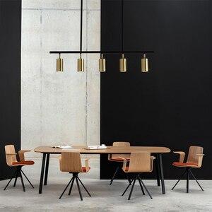 Image 4 - Nordic  Copper Brass Pendant Light Lamp LED Golden Modern Pendant Lamp Projection light Bedroom Dinning Bar LED Pendant Light