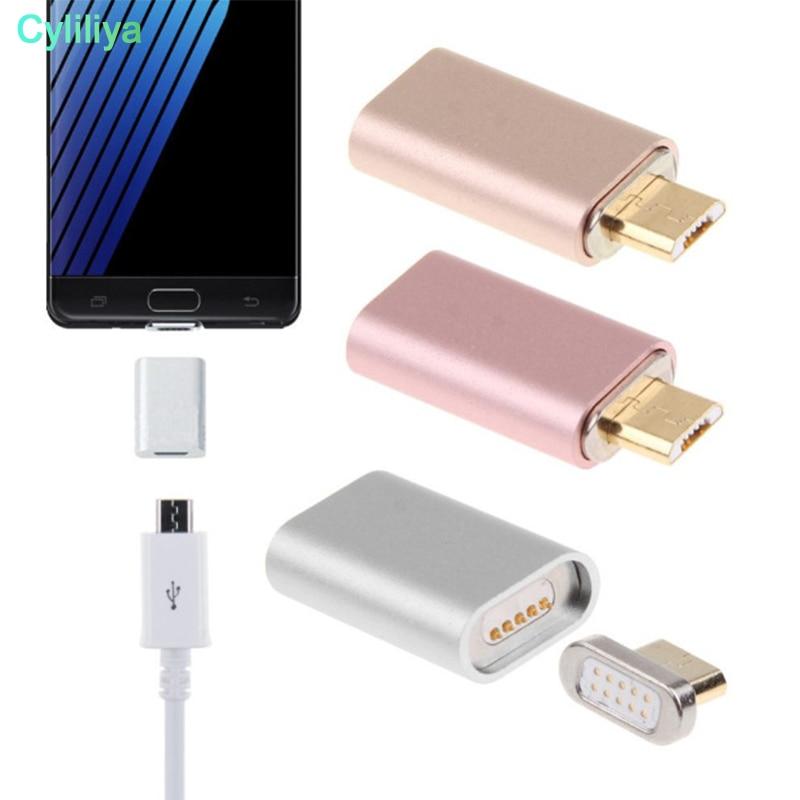 100 ピース/ロット金属アルミマイクロ USB 磁気ケーブルアダプタ充電器のコンバーターへの Huawei 社、 LG 、 HTC Xiaomi  グループ上の 携帯電話 & 電気通信 からの 携帯電話 アダプタ の中 1