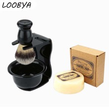 Shaving Brush Set  Shave Razor Stand Soap Acrylic Bowl for Man Father Beard Care