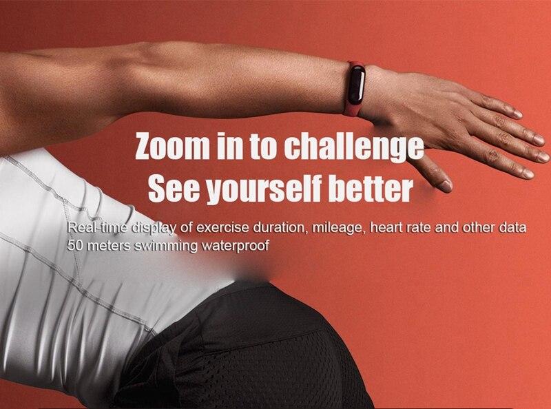 "Original Mi Band 3 Fitness Tracker Smart Bracelet 0.78""Color Screen 5ATM Waterproof Heart Rate Monitor Global Smartband In Stock 18"