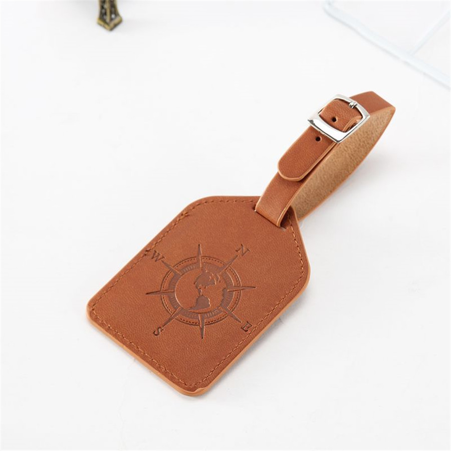 World Map Luggage Tag Label Travel Bag Label With Privacy Cover Luggage Tag Leather Personalized Suitcase Tag Travel Accessories