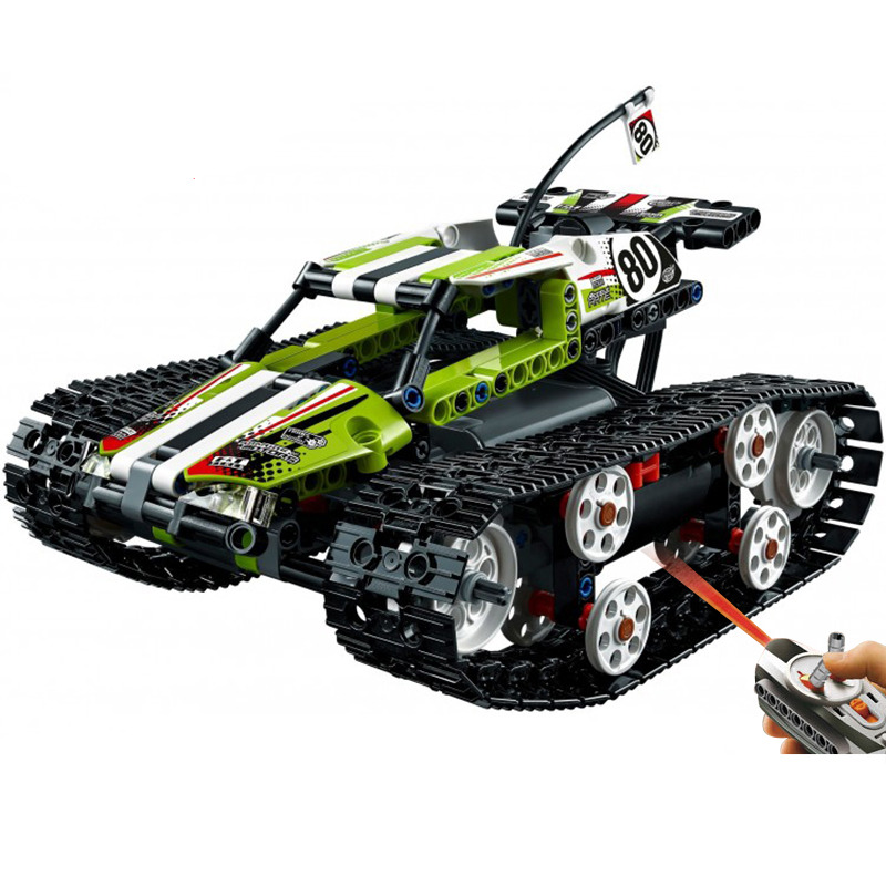 2017 New LEPIN 20033 397Pcs Technic Radio Controlled Tracked Racer Model Building Kits Blocks Bricks Toys Gift Funny Gift 2017 new lepin 20009 1977pcs technic claas xerion 5000 trac vc model building kits blocks bricks compatible toys gift with 42054