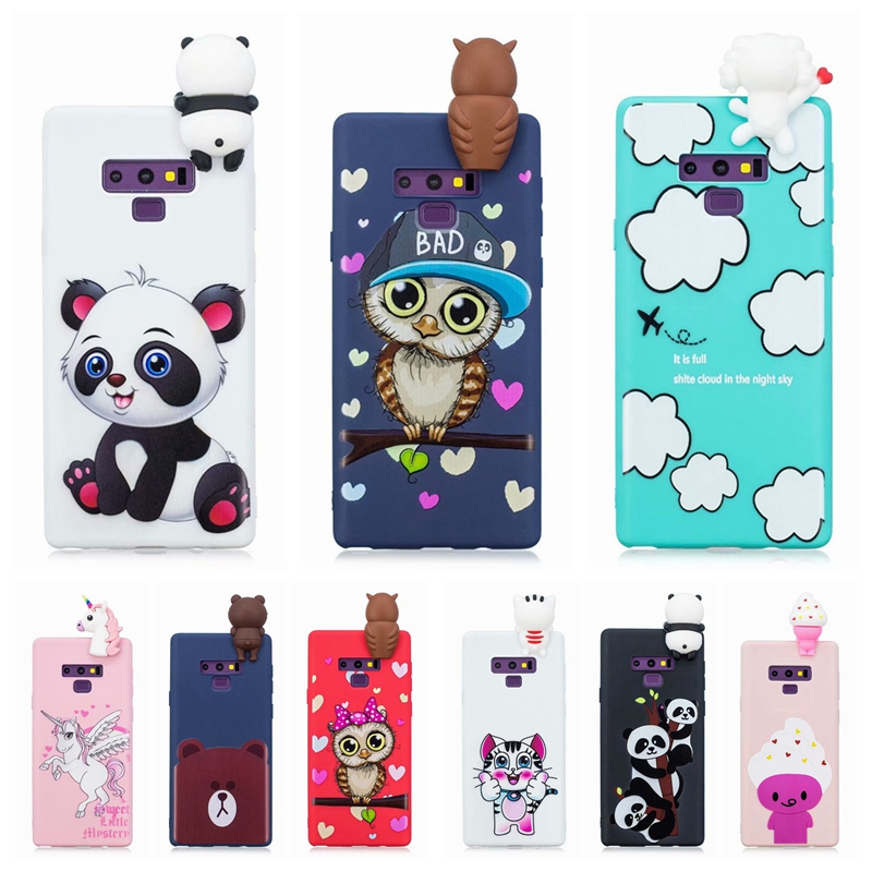 Note 9 Case on For Samsung Galaxy Note 9 3D Toys Panda Owl Cartoon Soft TPU Cover Fundas For Samsung Galaxy Note9 Case