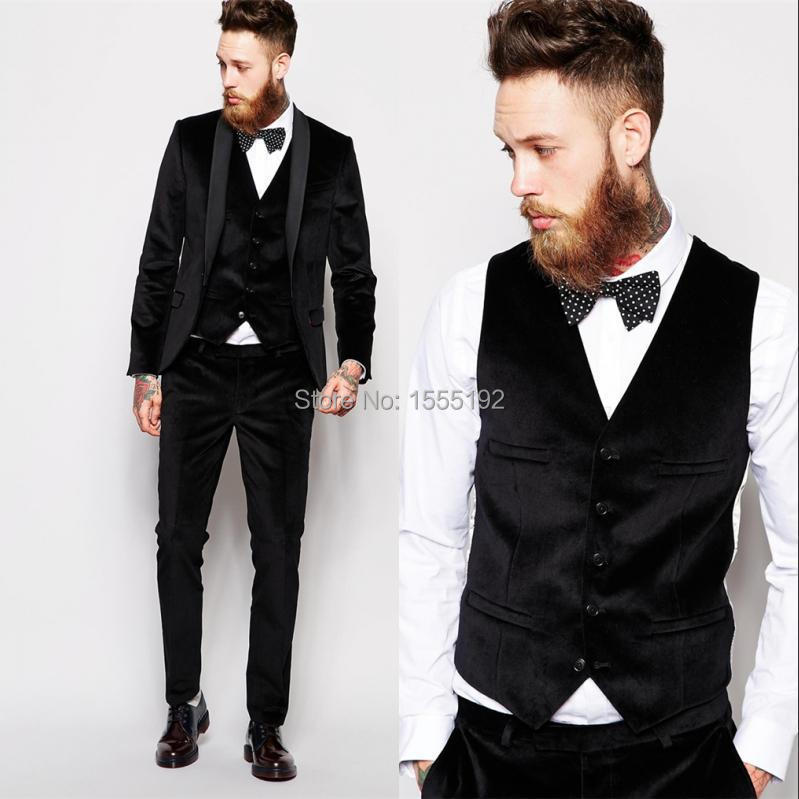 Black Suit Custom Made Groom Tuxedos Blue Business Suits Classic ...