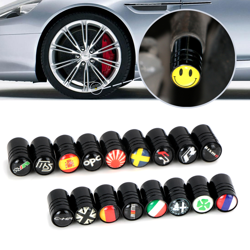 4pcs High Quality Car Badge Wheel Tire Valve Cap Tyre Dust Cap For opel lada renault skoda mazda Russia seat fr car accessories цена