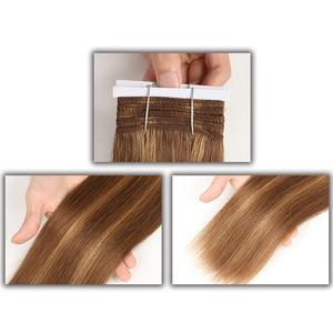 Image 2 - Sleek Pre Farbige P4/27 P4/30 P1B/30 P6/2 Menschliches Haar Bundles Brasilianische gerade Haar 1 Bundle Remy Haar Verlängerung 113g