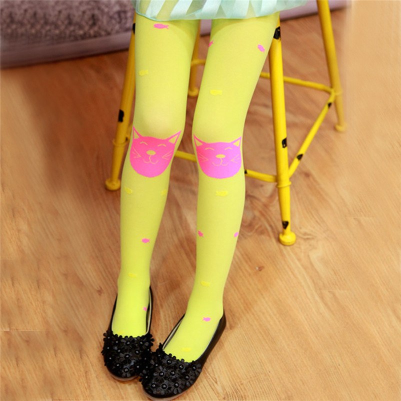 fashion good quality polyester pantyhose kids sweet cartoon lovely girls socks meia infantil dropshipping 3OT12 (1)